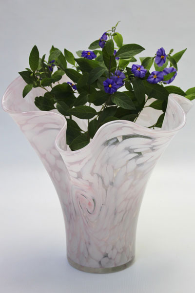 Crystal glass contemporary unique art vase
