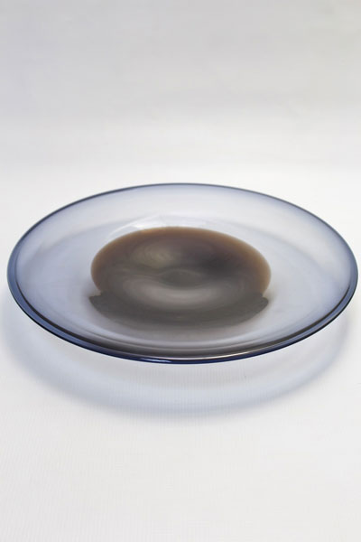Crystal glass contemporary unique plate