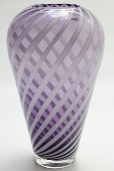 Crystal glass contemporary unique vase