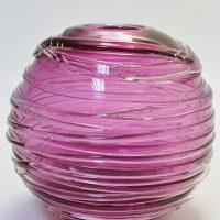 Crystal glass contemporary art sculpture ball