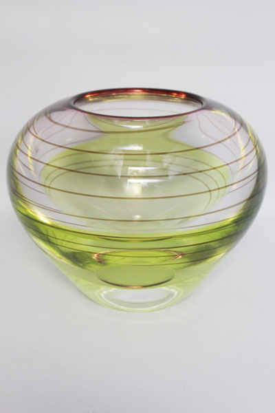 Crystal glass contemporary bowl