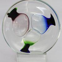 Jablonski crystal glass free form sculpture
