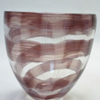 Crystal glass contemporary vase